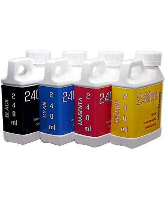 Dye Sublimation Ink 4- 240ml For Epson Wf-4720 Wf-4730 Wf-4734 Wf-4740
