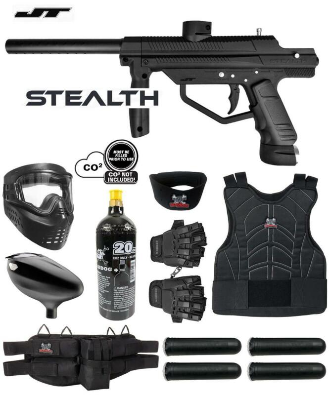 Maddog JT Stealth Semi-Automatic Protective CO2 Paintball Gun Starter Package