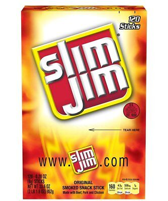 Slim Jim Smoked Snack Sticks Original .28-Ounce 120 Count