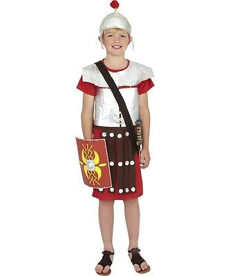 Boys Roman Gladiator Solider Costume Body Armor Outfit Hat Greek Child Kids L - Roman Gladiator Costume Kids