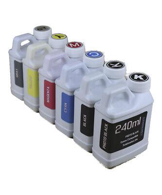 Dye Sublimation Ink 6-240ml Bottles For Epson Ecotank Et-8500 Et-8550 Non-oem