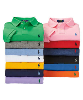 Ralph Lauren Polo Shirt Short Sleeve Mens Custom Fit Mesh 100% Cotton All Sizes