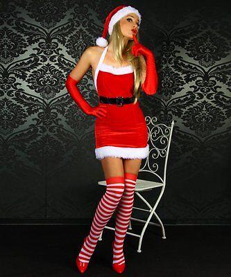 Weihnachts-Mini-Kleid Weihnachts-Kostüm sexy Weihnachtsmann Santa - Weihnachts Kostüm Kleid