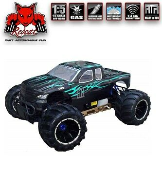 REDCAT RACING RAMPAGE MT V3 1/5 Scale Gas Monster Truck RC 32cc Green-Flame