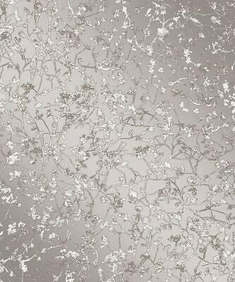 'Essence' FD23302 Contemporary Silver / Grey Wallpaper Kenneth James / Brewster