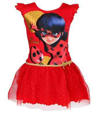Girls Miraculous Ladybug Barbie Costume Party Dress Halloween dress Age 4-10 YRS - Barbie Dress Costume