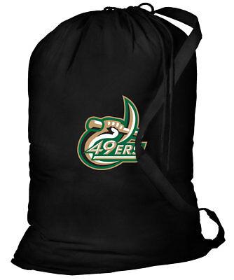 Unc Apparel (UNC Charlotte Laundry Bag UNCC 49ers Clothes Bags EASY CARRY SHOULDER)