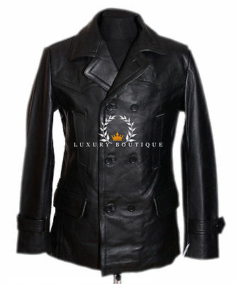 Kriegsmarine Black Men's German Cowhide Leather Jacket WAREHOUSE CLEARANCE SALE!](Clearance Combat Boots)