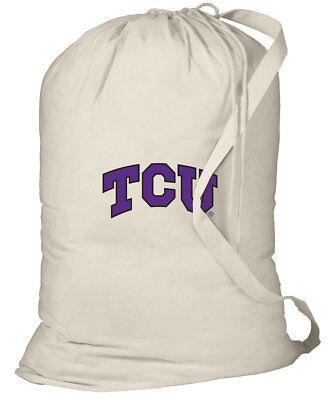 TCU Logo Laundry Bag Texas Christian Logo Clothes Bag WITH SHOULDER STRAP! - Tcu Apparel
