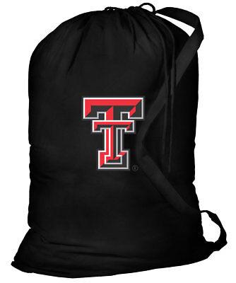 Texas Tech Red Raiders Laundry Bags BEST Texas Tech Clothes Bag w/SHOULDER STRAP