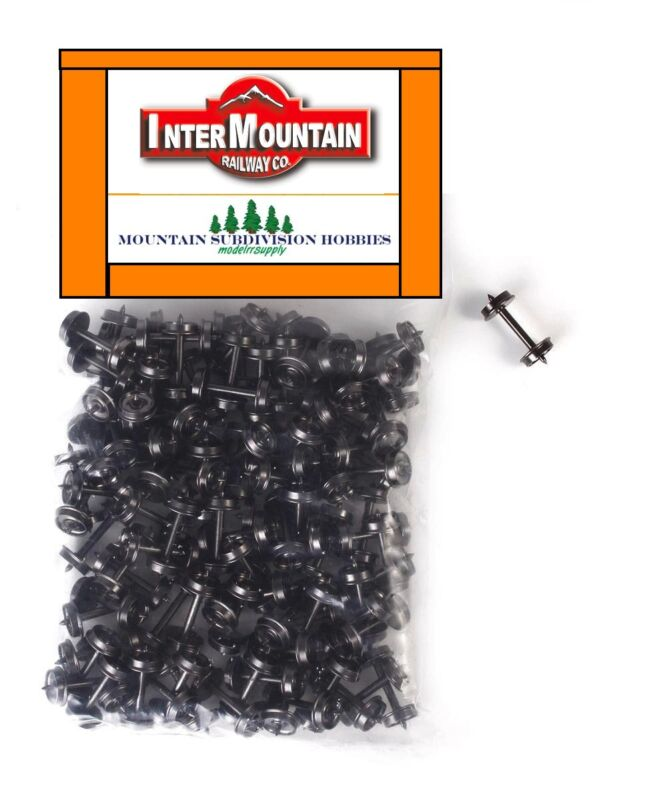 "InterMountain 40055 33"" HO 100 pk .110"" Metal Wheel sets wheelset  MODELRRSUPPLY"