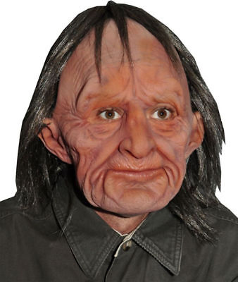 Morris Costume Men's Realistic Latex Supersoft Attached Wig Old Man Mask. 9002BS (Realistic Halloween Costumes For Men)