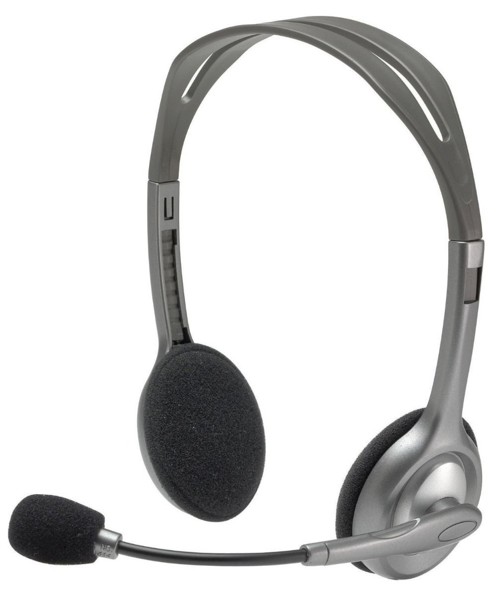 Logitech H111 3.5 mm Noise Cancelling Wired Headset With Mic