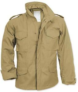 M-65-Field-Jacket-KHAKI-TAN-US-Army-Marine-Corps-Navy-Air-Force-USMC-USN-USAF-XS