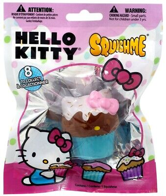 Hello Kitty Squishme Chocolate Cupcake with Blue Wrapper Squeeze - Blue Wrapper Chocolate