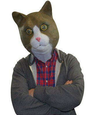 Freaky Cool Brown Cat Mask ~ Adult Costume Party Latex Head Face +1 Million Bill](Cool Guy Costumes Halloween)