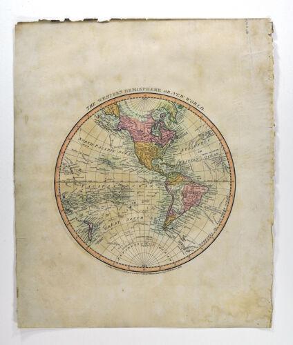 1812 Darton Atlas World Map Western Hemisphere North South America United States