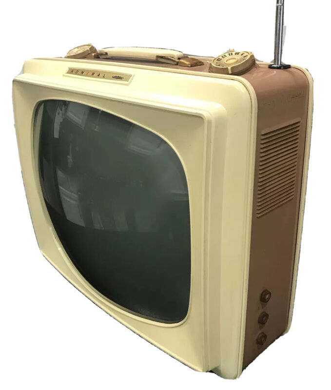 "VTG 1959 Admiral Portable ""Thin Man"" Television Model PL17F31B- So Cool!"
