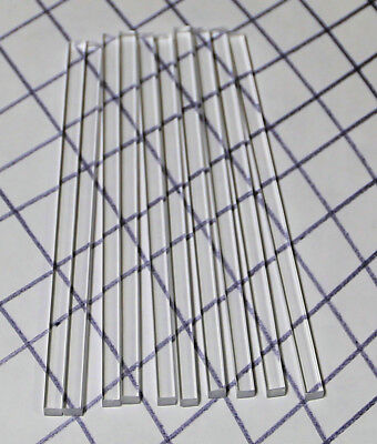 10 Pc 14 X 14 X 6 Inch Long Square Clear Acrylic Plexiglass Lucite Rod .250