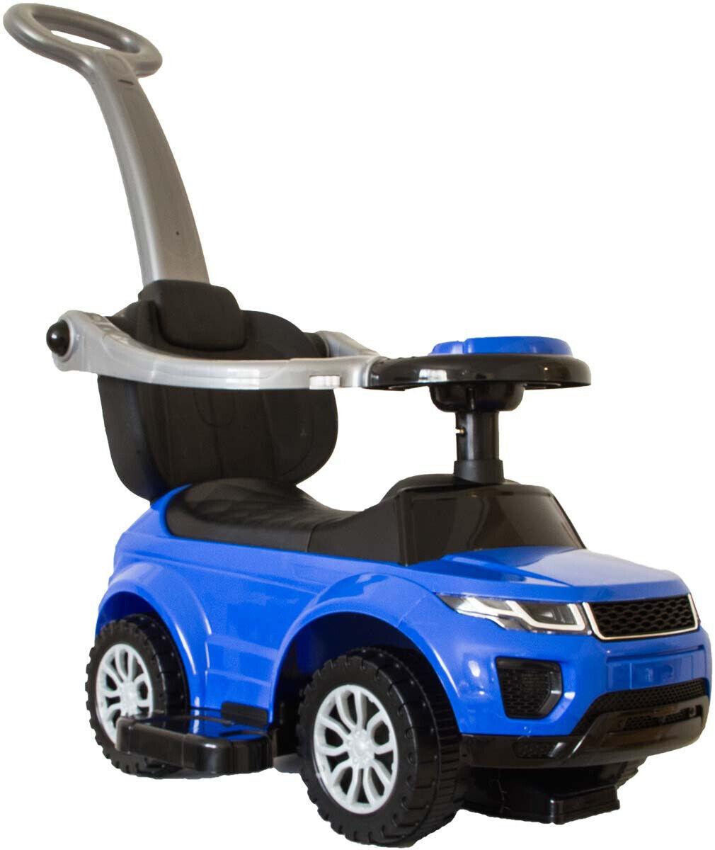 Babyrutscher rot oder blau mit Musik, Licht Schiebestange Rutscherauto Bobby-Car