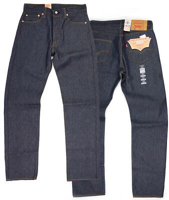 Levis 501 Shrink To Fit Button Fly Jeans Many Colors Many Sizes Denim Rigid - Fit Rigid Jeans