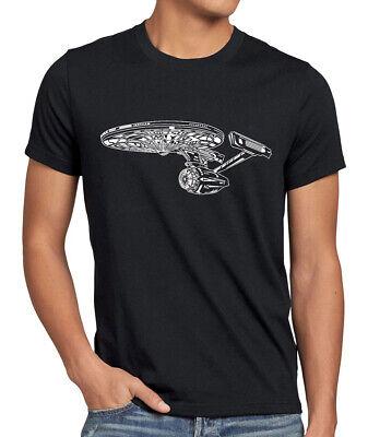 Trekkie Sci-Fi Herren T-Shirt spock raumschiff trek enterprise wars voyager star ()