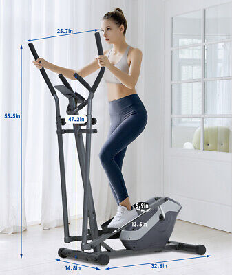 Elliptical Machine Exercise Bike With 8 Level Resistance and Digital Monitor Cardio Equipment