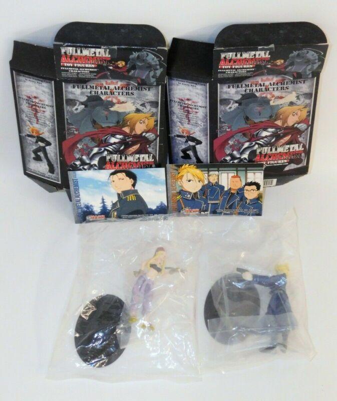 Lot 2 Fullmetal Alchemist Figures: Riza Hawkeye & Winry Rockbell w/Boxes & Cards