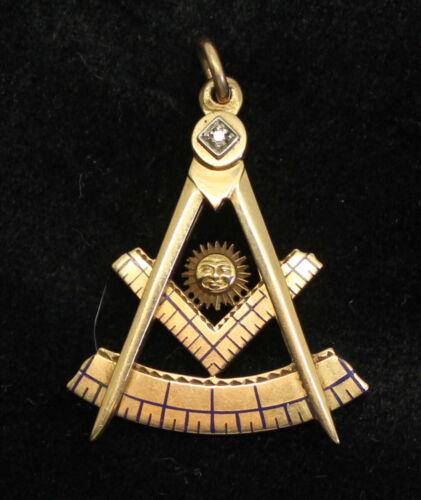 RARE! Estate 14K Gold M.S.MARTIN Masonic Pendant 1929 Cape Girardeau, MO 6.4g