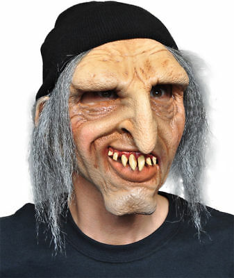 Morris Costumes Rugged Old Man Scary With Hair Toboggan Latex Mask. 1002MABS