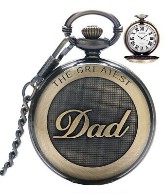 Men Dad Pendent Pocket Watch Vintage Quartz Fob Watches for The Greatest...