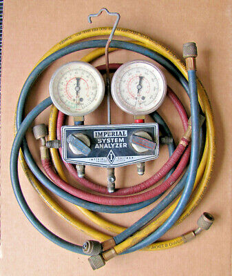 Imperial Eastman Refrigeration System Analyzer With 6 Hoses
