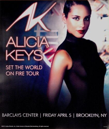 ALICIA KEYS 2013 SET THE WORLD ON FIRE TOUR BARCLAYS CENTER POSTER / BROOKLYN