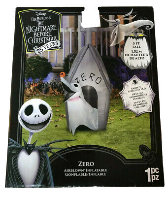 5 Ft. The Nightmare Before Christmas Zero Airblown Halloween Yard Inflatable NIB