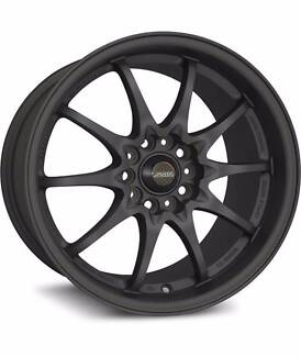 """SSW Rotate Black 17"""" 18"""" 4 Stud 5 Stud Wheels Rims Castle Hill The Hills District Preview"""