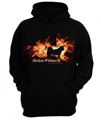Alaskan Malamute Sweatshirt (Sweatshirt ALASKAN MALAMUTE FEUER UND FLAMME by Siviwonder Hoodie)
