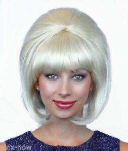 60's Beehive Hairspray Blonde Wig Women's fancy dress costume accessory