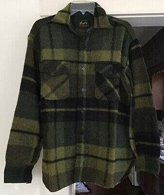 1940s Men's Shirts, Sweaters, Vests Vintage Hunting Shirt Jacket 1940s Rugby For All Good Sports Mens Medium RARE! $179.95 AT vintagedancer.com