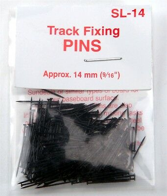 "PECO SL-14 Track Fixing Pins / Nails Blackened Metal approx 9/16"" MODELRRSUPPLY-"