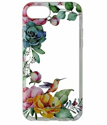 Milk And Honey Floral and Humming Bird Clear Case Cover For Apple iPhone 7 6 6s