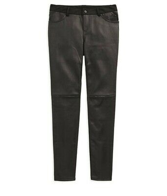 New Harley-Davidson Women's Stretch Leather Skiny Pants 96609-19VW