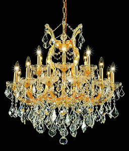 Gold crystal chandelier ebay palace grand maria theresa 19 light crystal chandeliers light gold fixture aloadofball Images
