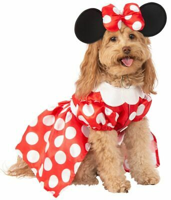 Rubies Disney Minnie Mouse Polka Dot Dress Pets Dogs Halloween Costume 200164](Minnie Mouse Pet Costume)