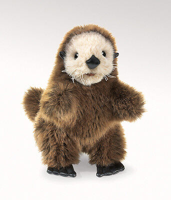 Baby Sea Otter Hand Puppet w/ Movable Mouth & Legs, Folkmanis MPN 2960, 3 & Up