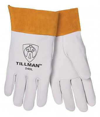 Tillman 24d Large Tig Welding Gloves Top Grain Kidskin Leather W 2 Cuff 1pair