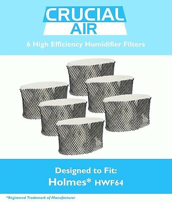 6 Replacements Holmes HM1761 Humidifier Filters B Part # HWF64