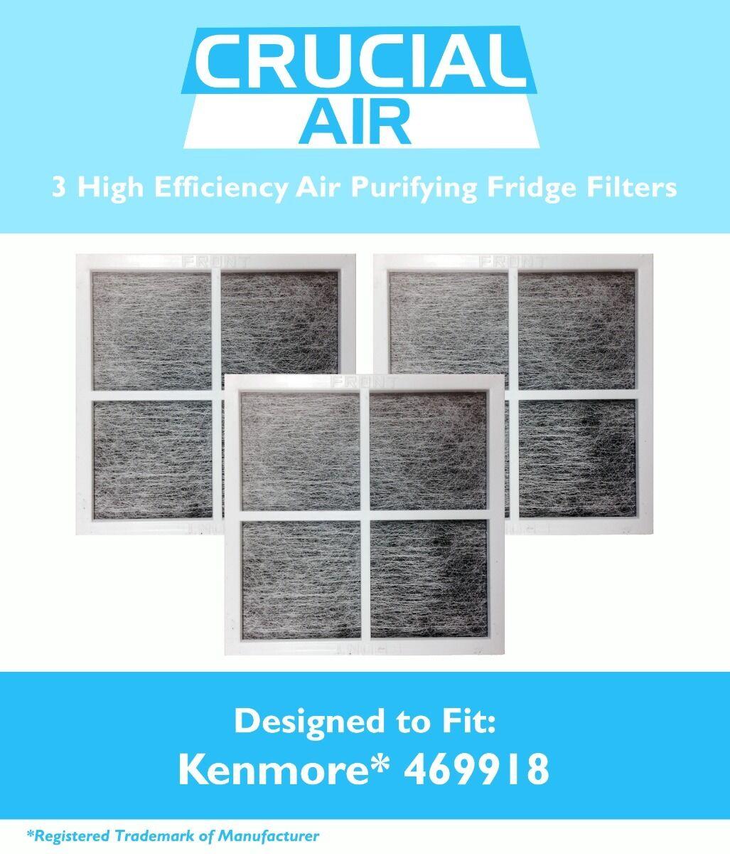 3 REPL Kenmore Elite 9918 Air Purifying Fridge Filters Part