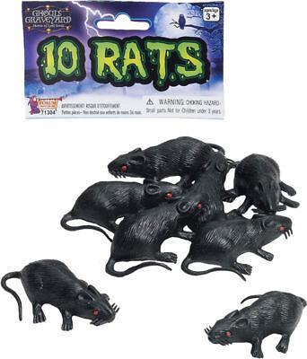Halloween Costumes For Rats (Morris Costumes Plastic Rats Set Of 10.)