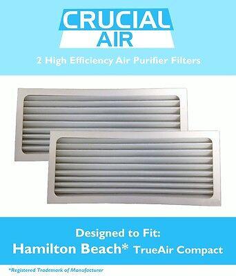 2 Replacements Hamilton Beach TrueAir Air Purifier Filters Part # 990051000