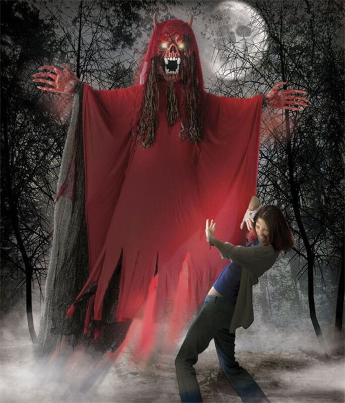 Morris Costumes Hanging Monsters 10 Ft Fanged Demon Red Large Decorations & Prop